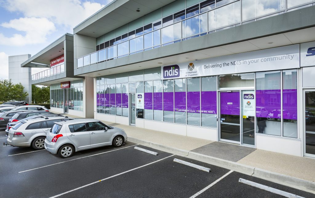 External view of a Brotherhood of St Laurence NDIS office.