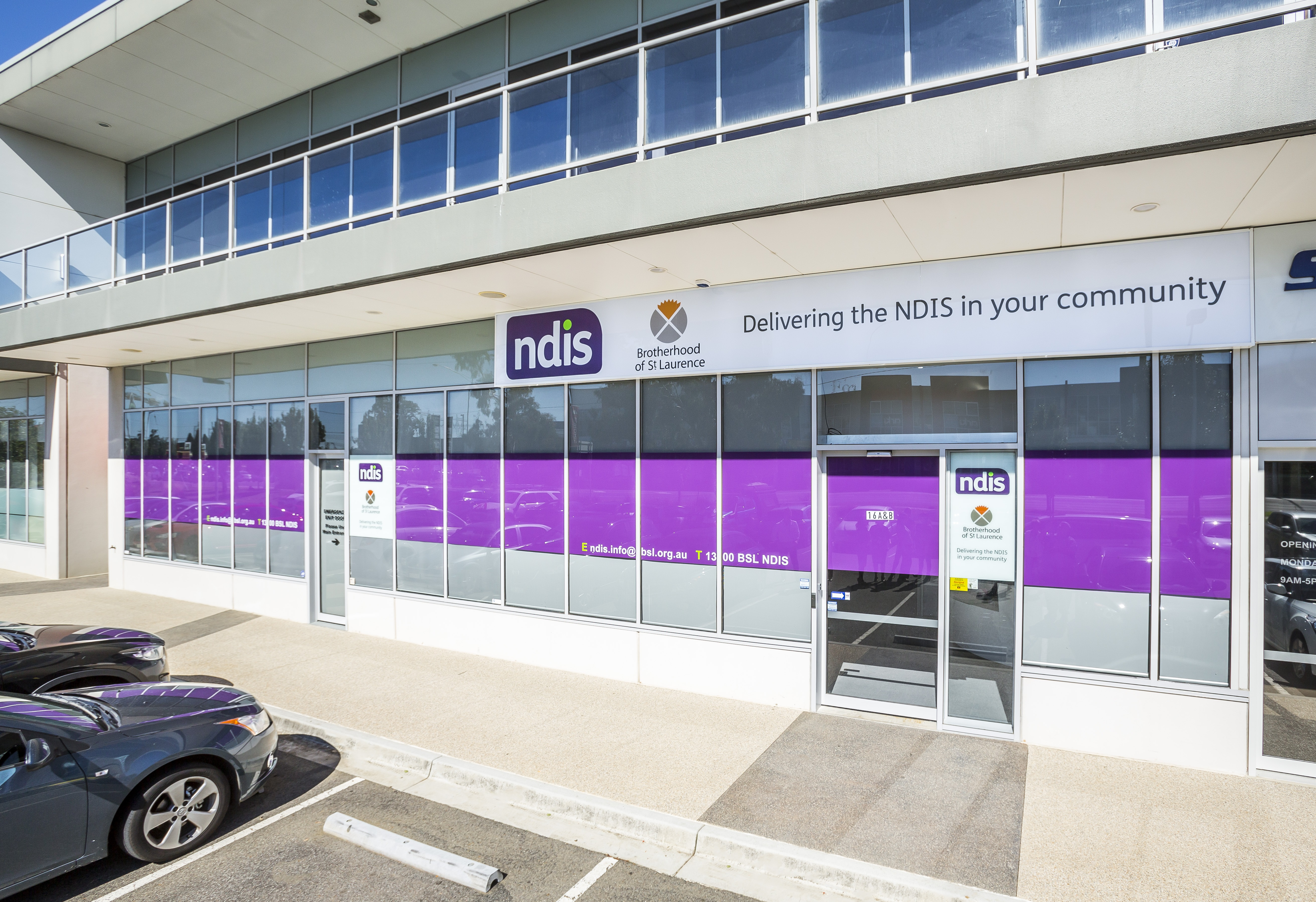 Image showing entrance to a Brotherhood NDIS office