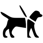 Assistance animal friendly venue logo